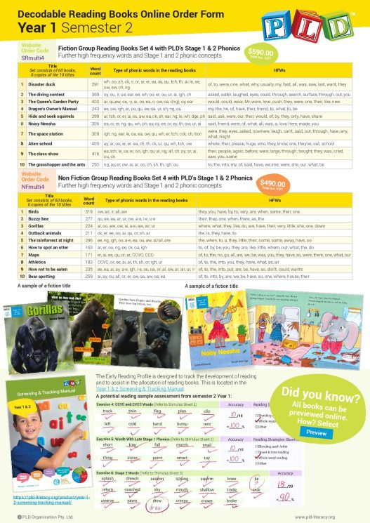 PLD's Decodable First Reading Books