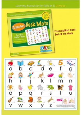 Alphabet Desk Mats For The Early Years