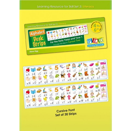 Alphabet Desk Strips For The Early Years and Year 1