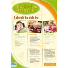 Speech and Language Developmental Milestones - Now that I am 4 years old...