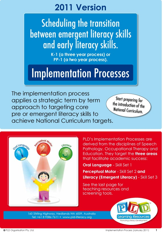 Implementation Process Fact Sheet - Pld Literacy And Learning