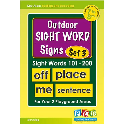 Outdoor sight words signs set 3