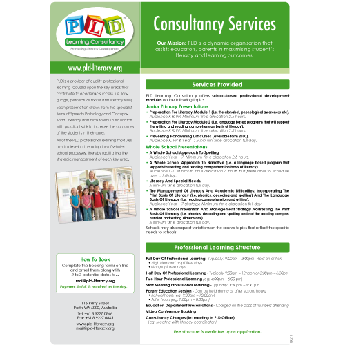 PLD Consultancy Services Information