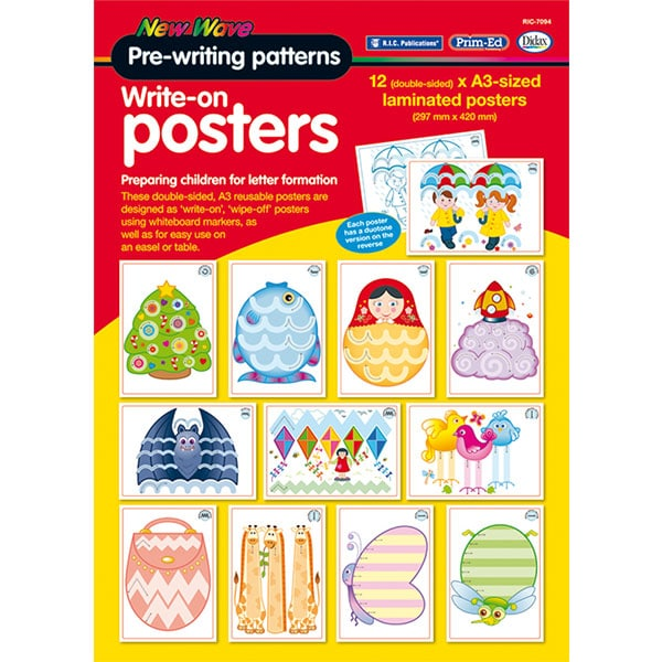 Pre-writing patterns - write on posters