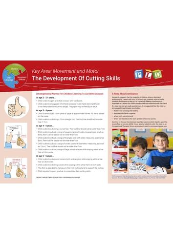Developing Cutting Skills Milestones - Ages 2 - 6