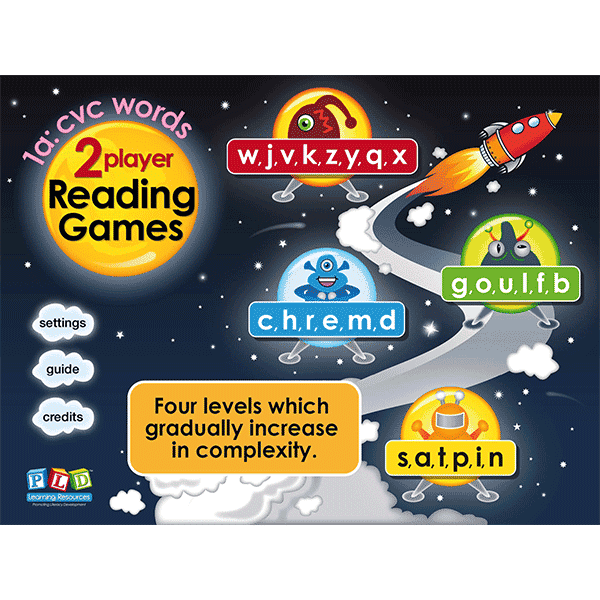 PLD 2p read 1a - cvc words