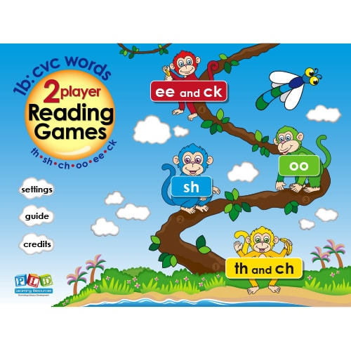 PLD 2 Player Reading Games 1b: sh, ch, th, oo, ee, ck