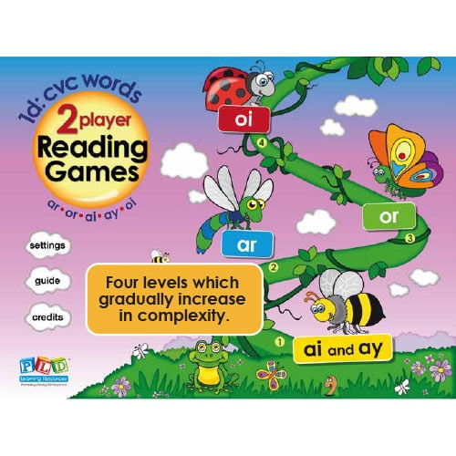 PLD 2 Player Reading Games 1d: ar, or, ai, ay, oi