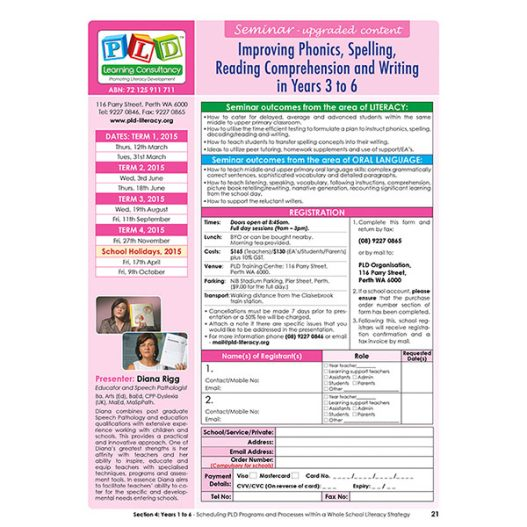 Seminar - Improving phonics, spelling, reading comprehension, and writing in Years 3 - 6