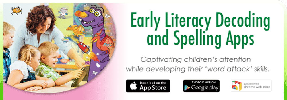 Apple and Android Learn to read and Spell Literacy Apps