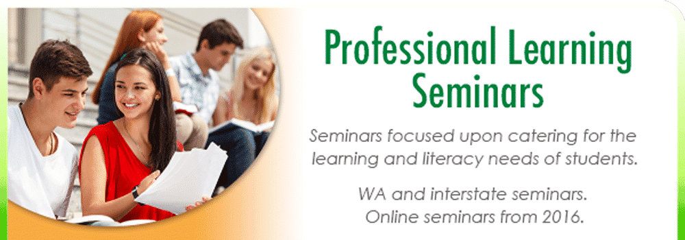 Professional development seminars helping professionals and parents cater for the literacy and learning needs of kids