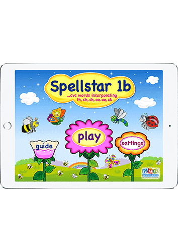 Spell star 1b - sh, ch, th, oo, ee, ck words