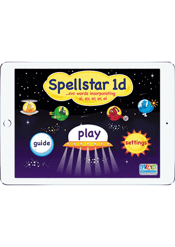 Spell star 1d - ar, or, ai, ay, oi words
