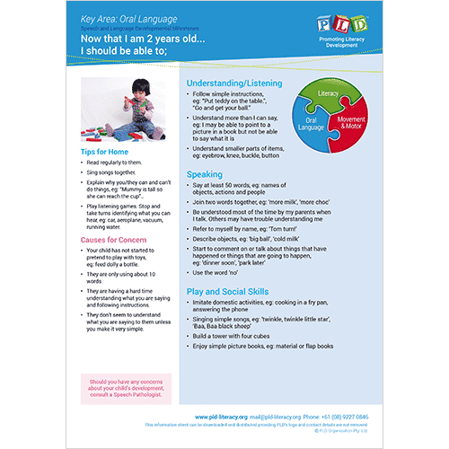 Speech & language development milestones - 2 year old