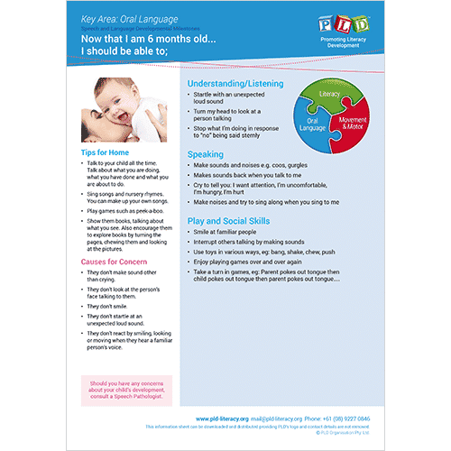 Speech & language development milestones - 6 months old