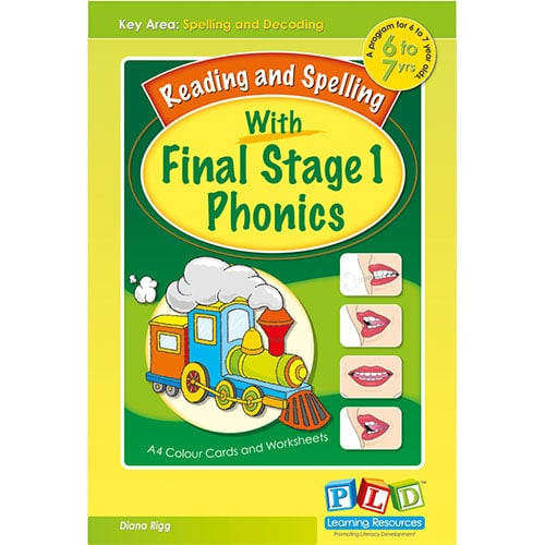 Reading and Spelling with Final Stage 1 Phonics