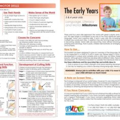 Early Years Language, Literacy & Motor Milestones