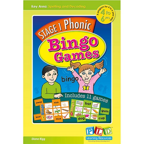 Stage 1 phonic bingo games