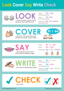 Learning to Spell - Look Cover Say Write Check