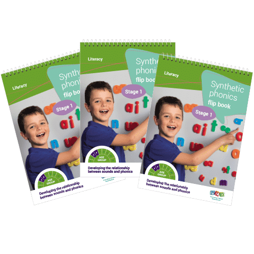 Multi-pack: Synthetic phonics flip book - Stage 1