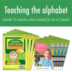 Alphabet sound charts (Cursive Font)