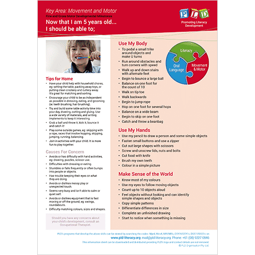 Fine & gross motor development ages 4 & 5