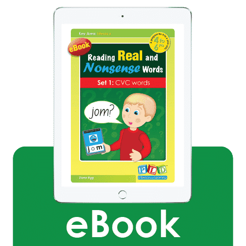 Reading real and nonsense words set 1: cvc words