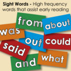 Tips for Sight Words