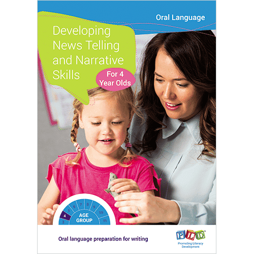 Developing news telling and narrative skills for 4 year olds