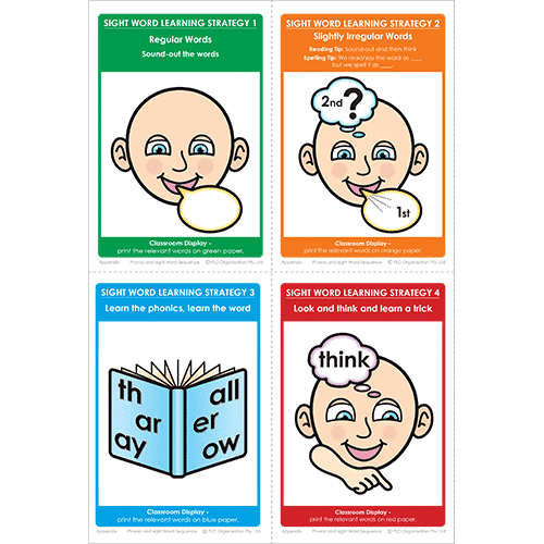 Sight word teaching and assessments for Year 2