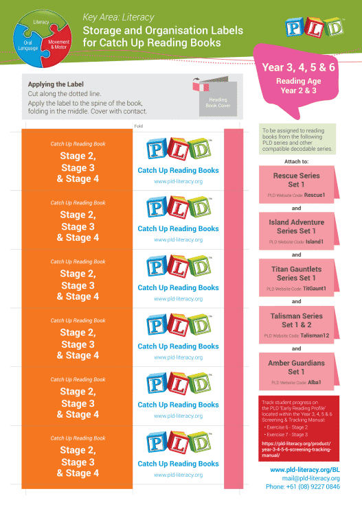 Storage & Organisation Labels for Decodable Home & Group Reading Books