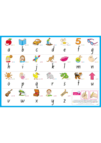 Alphabet Desk Mats for The Early Years – Foundation Font (Downloadable)
