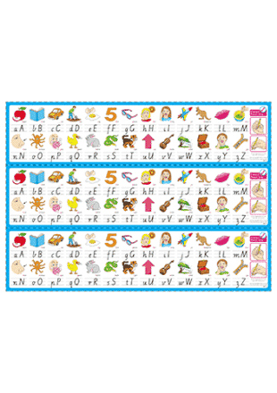 Alphabet Desk Mats for The Early Years – Cursive (Downloadable)