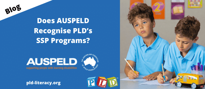 Does AUSPELD Recognise PLD's SSP Programs?