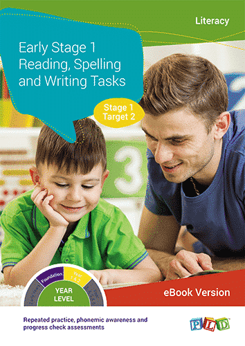 Early Stage 1 Reading, Spelling and Writing Tasks - Target 2