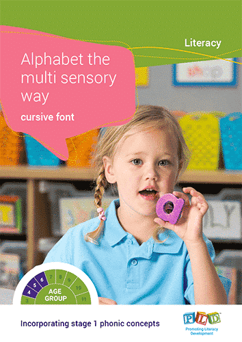 Alphabet the Multi Sensory Way – Cursive Font