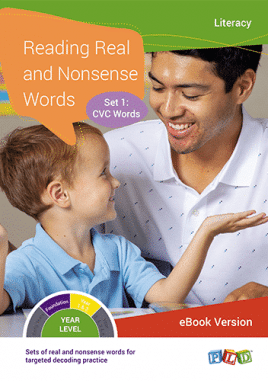 Reading Real and Nonsense Words - Set 4: ar, or, er, ay, ai, oi, oy, ing, all (eBook)