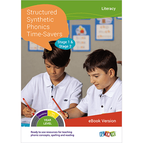 Structured Synthetic Phonics Time-Savers - Stage 1 & 2 (eBook)
