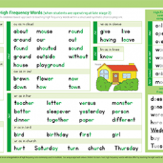 A rethink of High Frequency Words within PLD's Structured Synthetic Phonics Program