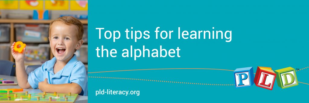 Top tips for learning the alphabet