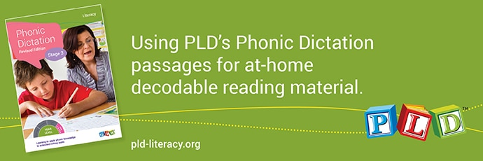 Using the Phonic Dictation passages for at-home decodable reading material