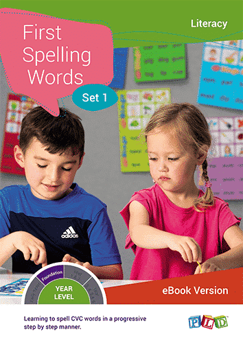 First Spelling Words - Set 1