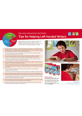 Tips for Helping Left-handed Writers