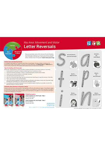 Tips for Dealing with Letter Reversals