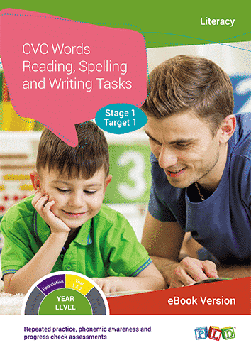 CVC Words Reading, Spelling and Writing Tasks