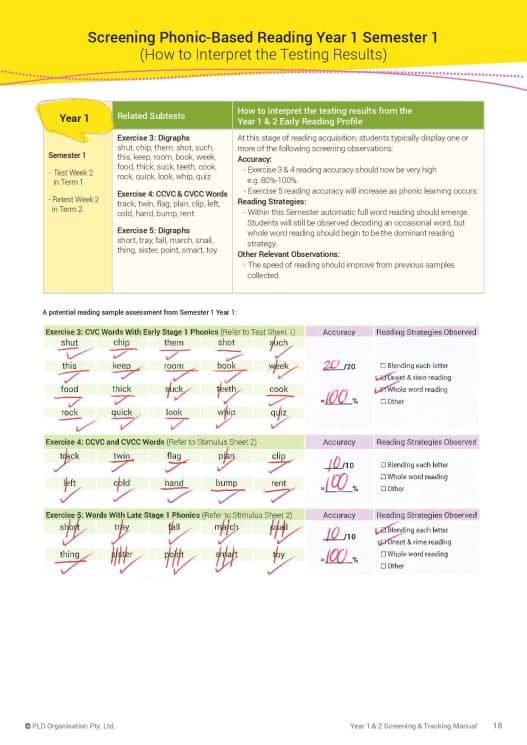Year 1 & 2 Screening & Tracking Manual