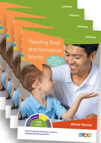 Reading Real and Nonsense Words – Set 1 - 4 (eBooks)