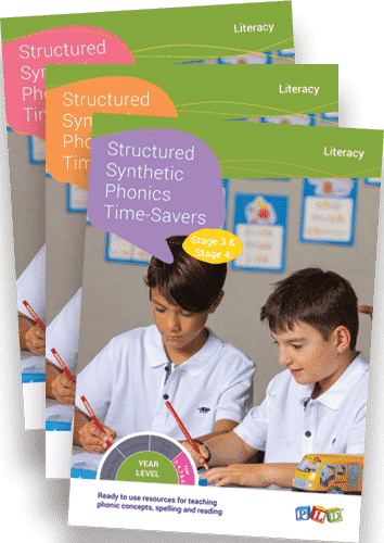 Structured Synthetic Phonics Time-Savers - Stage 1 - 6 Full Set