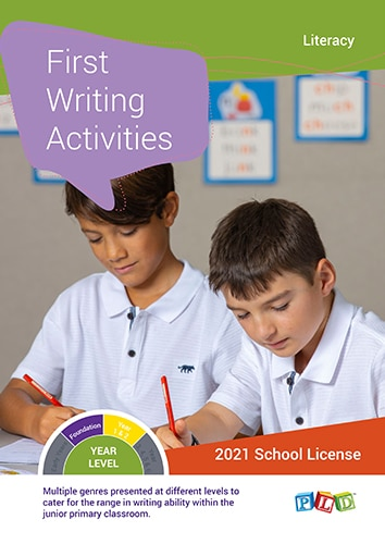 First Writing Activities (Subscription)