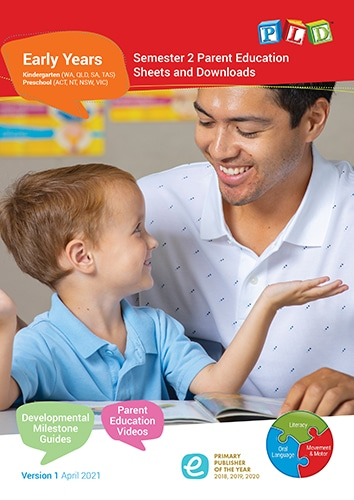 Early Years Parent Education Sheets and Downloads - Semester 2